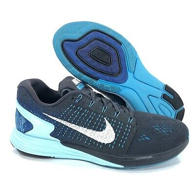 competitive price fa002 f2af5 NIKE LUNARGLIDE 7 Womens Size 10.5 / Mens Size 9 Running Shoes Gray Blue