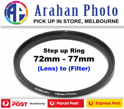 Step Up Ring 72-77Filter Lens Adapter 72mm Filter to 77mm Lens