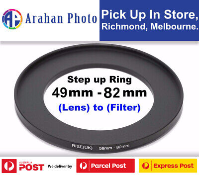 Step Up Ring 49-82mm  49mm Lens to 82mm filter