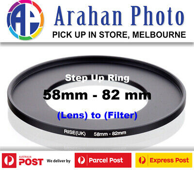 Step Up Ring 58-82mm  58mm Lens to 82mm filter