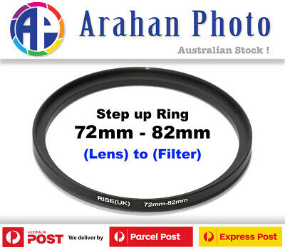 Step Up Ring 72-82mm  72mm Lens to 82mm filter
