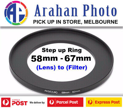 Step Up Ring 58-67mm  58mm Lens to 67mm filter