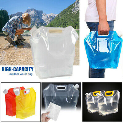 Outdoor Sports Foldable Picnic Bucket Portable Bag Storge Container Water Bags