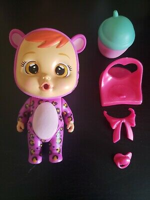 Cry Babies Magic Tears Mini Dolls Lea Leopard Pre-owned with accessories