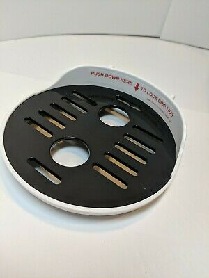 Used Baby Brezza Formula Pro 2 Piece Drip Tray & Bottle Grate Replacement Parts