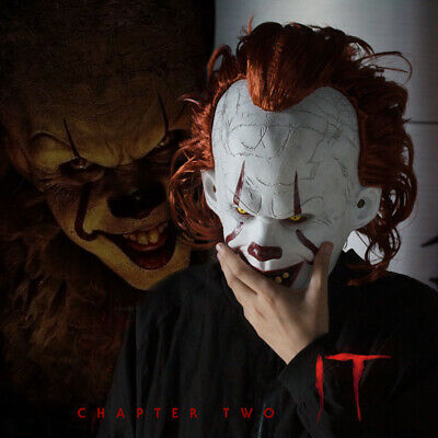 Pennywise Mask Stephen King's It Chapter Two Scary Joker Cosplay Halloween Mask