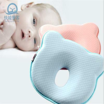 Baby Infant Newborn Memory Bear Pillow Prevent Flat Head Anti Roll Support JJ