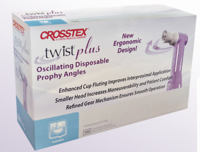 Crosstex Twist Plus 120 Oscillating Disposable Prophy Angles Soft Cup- 100Pc
