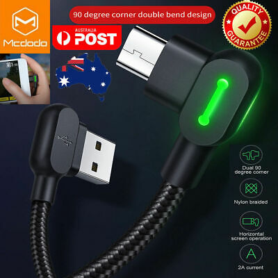 MCDODO 90 Degree Right Angle Micro USB Charging Charger Cable Samsung Android LG
