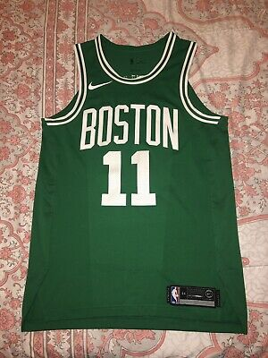 new product de099 2145e NIKE AUTHENTIC BOSTON Celtics Kyrie Irving Road Green Jersey ...