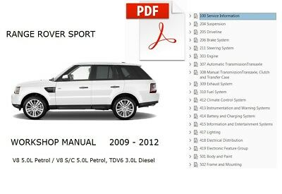 LOFFICIAL WORKSHOP MANUAL Service Repair Land Rover Range ... on