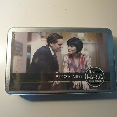 Miss Fisher's Murder Mysteries Postcard Set . NEW BOXED