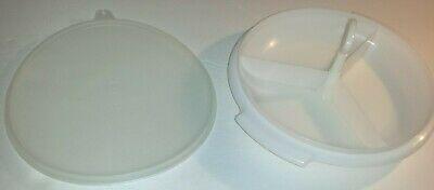 Vtg 3 pc Tupperware SUZETTE TRAY Divided Serving Party Relish Dish w/seal #608