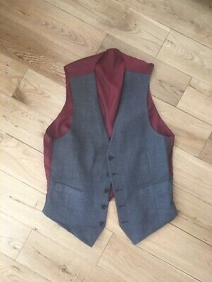 Vintage Marks & Spencer 100% Wool Classic Tailored Check Waistcoat Medium Ch 40