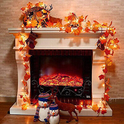 1pc LED Fall Maple Leave Fairy String Light Autumn Leaf Lamp Garland Party Decor
