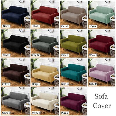1-4 Seater Stretch Elastic Fabric Sofa Protector Sofa Slip Cover Couch Cover