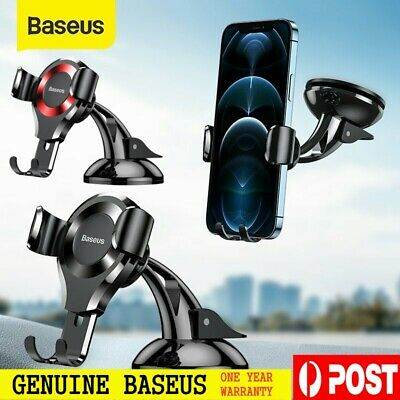 Baseus 360° Gravity Universal Car Mobile Phone Holder GPS Stand Mount Cradle AU