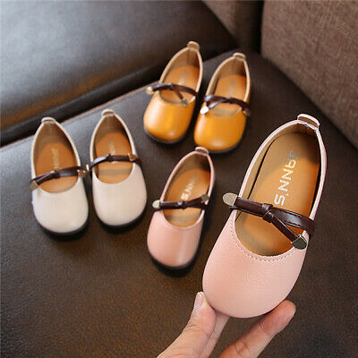 Children Girls Baby Comfy Flats School Casual Pumps Toddler Kids Princess Shoes