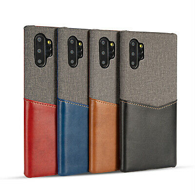 For Samsung Galaxy Note 10 Plus Case Leather Slim Card Wallet Shockproof Cover
