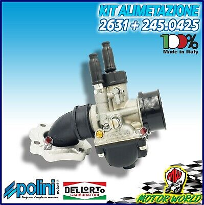 Carburatore Phbg 19 Dell'orto + Collettore Polini Mbk Forte 50