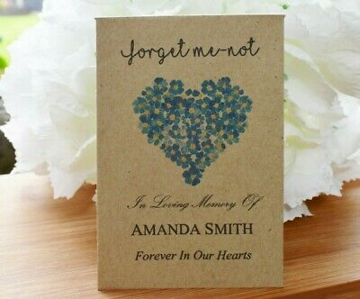 50 Funeral Favour personalised Seed Packets| Forget Me-not (with seeds)