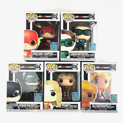 5x Funko POP BIG BANG THEORY 2019 SDCC WALMART EXCLUSIVES **NEW** FREE SHIPPING!