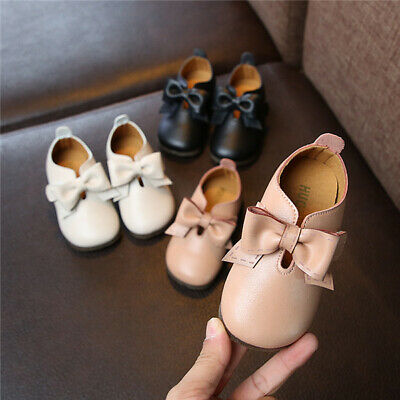 Kids Girls Bowknot Princess Flats Pumps Toddler Child School Formal Party Shoes