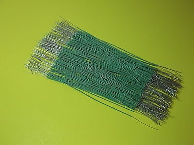 "120 ~ 6"" Pieces ~ 24 ga ~ Green Cloth Covered Wire ~ Bell System ~ NEW"