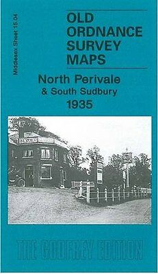 Old Ordnance Survey Map North Perivale & South Sudbury 1935