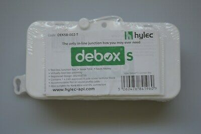 Hylec DEKSB-002 DEBOX In-Line Connector Box Junction Box 4 Pole Terminal Block