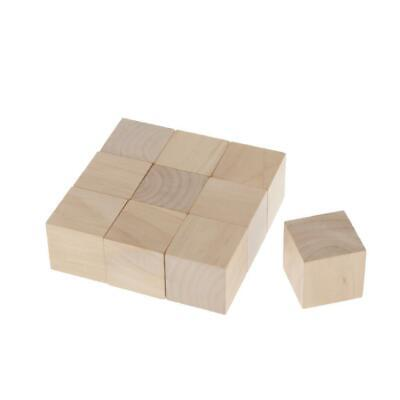 MagiDeal 10pcs 6-Sided Blank Wood Dice for DIY Crafts Carving Arts 40mm