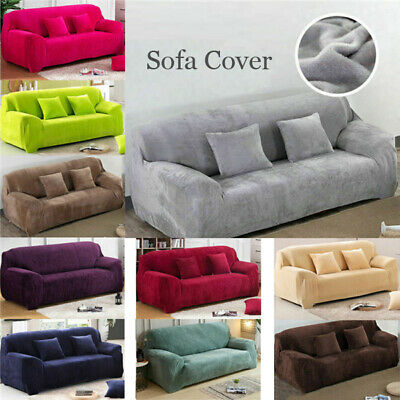 New Warm Plush Sofa Cover Sectional/Corner Couch Covers Home Decor 1/2/3/4 Seats
