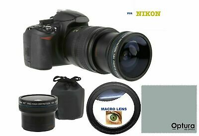 55Mm Dedicated Fisheye Wide Angle Macro Lens For Nikon D3400 D3500 D5600 D3300