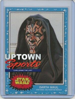 Topps SW Living Set Card #25 - Darth Maul GREAT COLLECTION