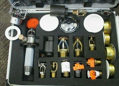 CASE OF SALESMAN SAMPLE FIRE SPRINKLER HEADS ATTACHMENTS VICTAULIC TYCO #
