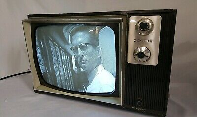 Zenith Tube Type TV 12 inch Black and White 1974
