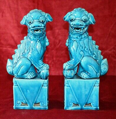 Antique Chinese Pair of Large Foo Dogs
