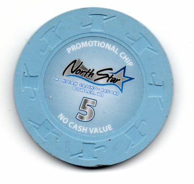 Mohican Northstar Casino Bowler WI $5.00 25th Anniversary Chip House Mold