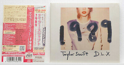 Taylor Swift 1989 Deluxe Edition Japan CD + DVD POCS 24009 w/ Photo Cards Obi