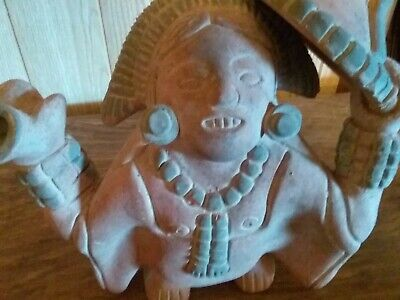"Pre-Columbian Style  Terra Cotta Figure 9"" Tall"