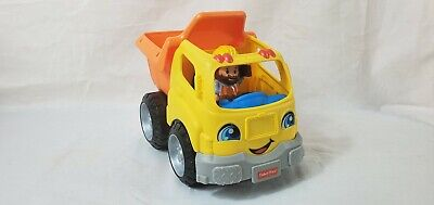 Fisher Price Little People Dump Truck Construction Vehicle w/ Figure
