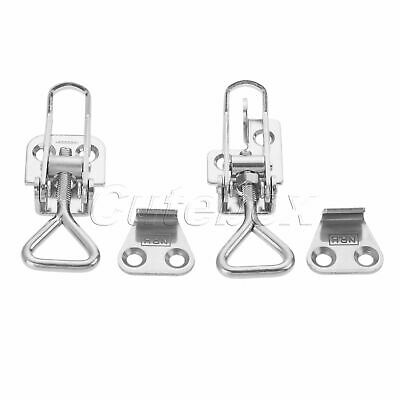 Metal Spring Loaded Latch Catch Adjustable Toggle Clamp Clip Trunk Case Box Hasp