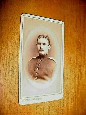 Antique Cdv Photograph Soldier German Or Austrian 1890 - 1910