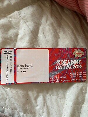 Reading Festival Weekend Ticket 2019 x1 (Includes Camping)