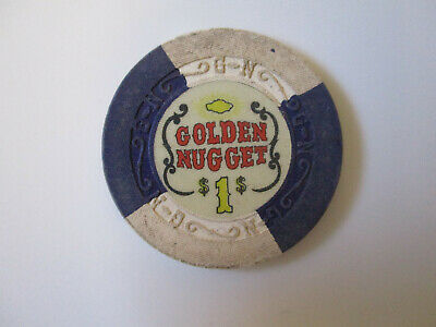 vintage Golden Nugget Casino Las Vegas Nevada $1 Dollar Poker Chip