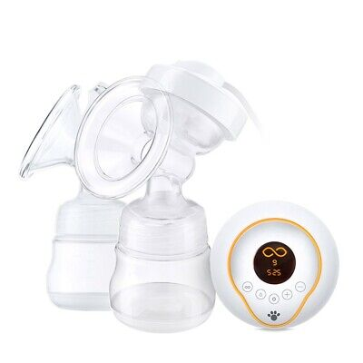 Intelligent LCD Electric Automatic Breast Pump USB Double Bottles Baby Feeding
