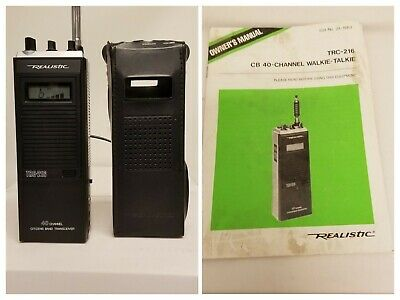 Realistic TRC-216 40 Channel Citizens Band Transceiver case and manual Working