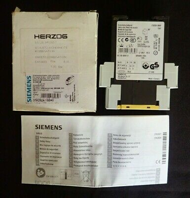 Siemens 3Tk2824-1Bb40 Sirius Safety Relay With Relay Enabling Circuits New