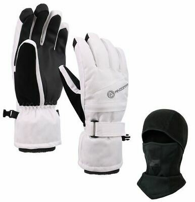 NEW Women's Thinsulate Insulated Ski Mask & Waterproof Touch-Screen Gloves - L