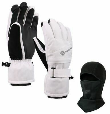 NEW Women's Thinsulate Insulated Ski Mask & Waterproof Touch-Screen Gloves - M